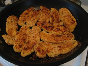 Pan fried the chicken