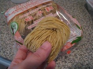 1 pack of dried egg noodle