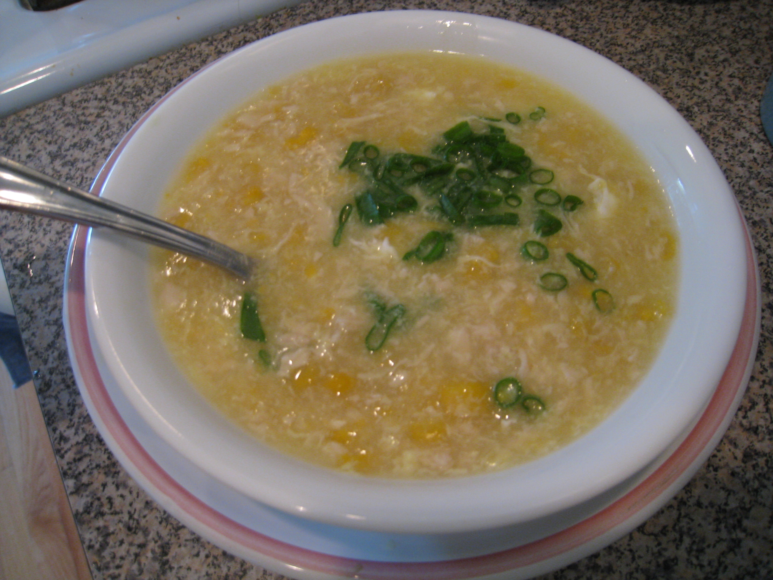 chinese chicken and sweetcorn soup