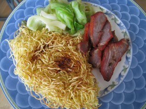 Roast Pork with Crispy Noodles