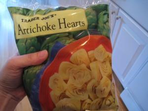 Frozen artichoke hearts