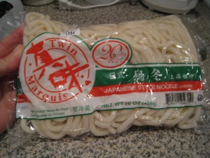 Shanghai noodles. They look like Japanese Udon noodles