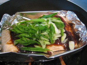 Add scallion after the fish is cooked