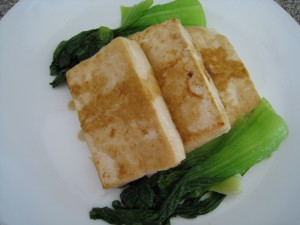 Pan Fried Tofu with Bok Choy