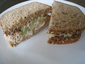 Home made tuna fish sandwich