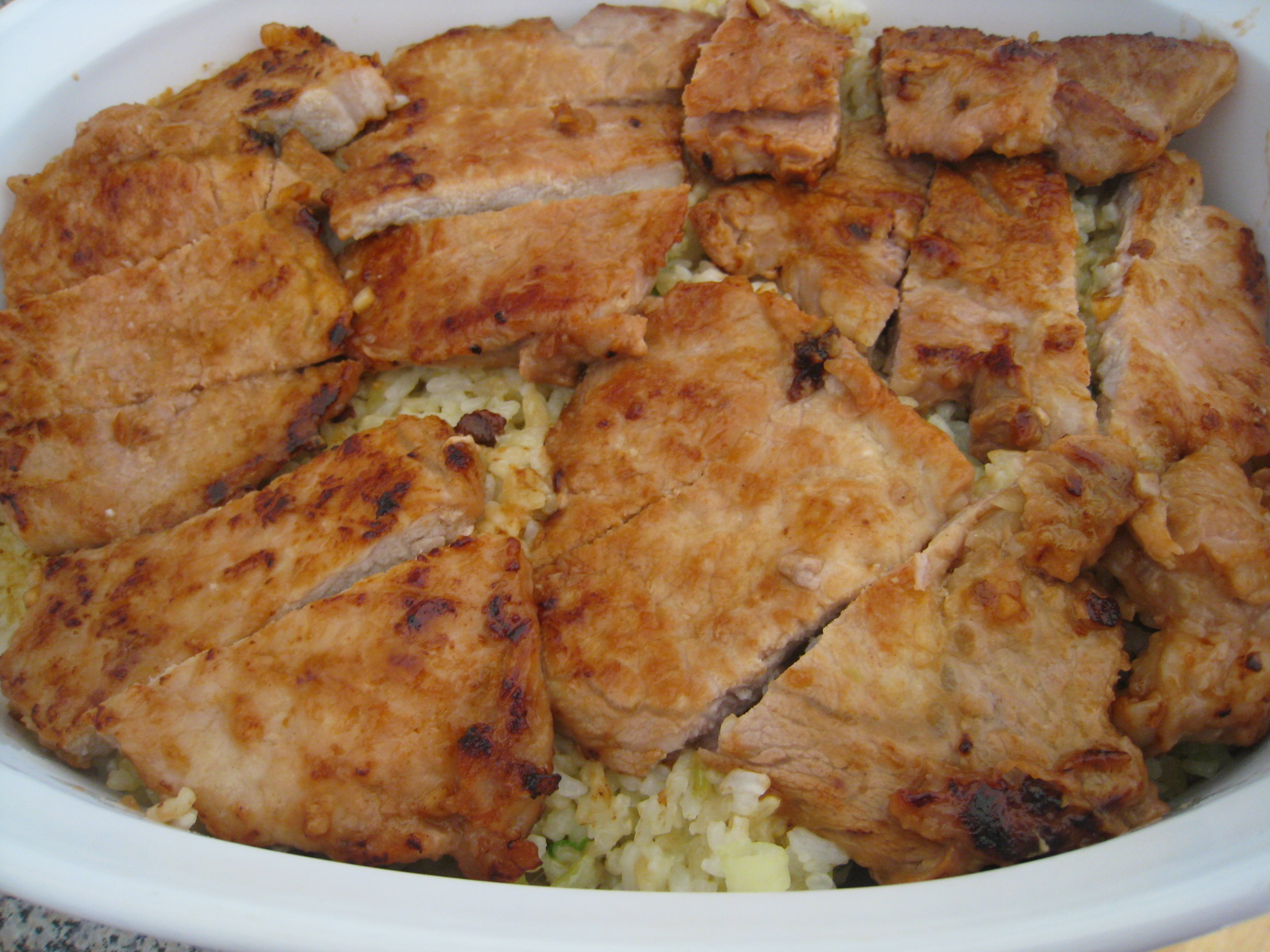 Baked Pork Chops and Rice :: Chinese Chicken Recipes for Busy People